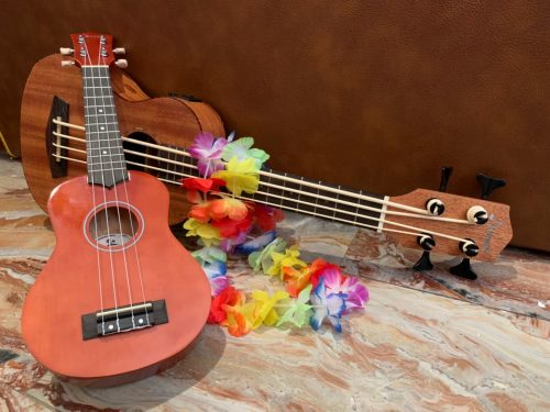 Donner Ukulele Soprano DUS-10 Rainbow series, ukulele over the rainbow